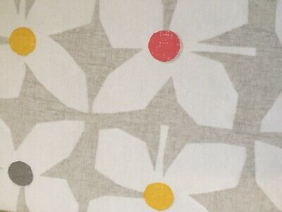 Next Eyelet Curtains. New. Retro Geo Floral.Blackout Lining. (117 X 183cms). • 29.95£