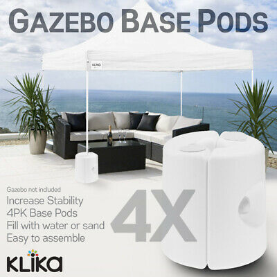 AU59 • Buy 4x GAZEBO BASE WEIGHT PODS MARQUEE TENT CANOPY WATER SAND FILLABLE LEG FEET