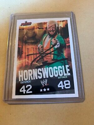 Hornswoggle Hand Signed WWE Topps Slam Attax Evolution Wrestling Trading Card  • 5£