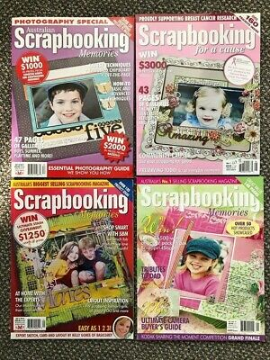 Australian Scrapbooking Memories Magazines Lot - Craft Room Clear-out • 3£