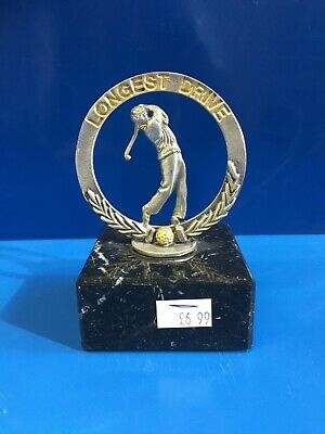 GOLF TROPHY - English Pewter & Marble Base - Golfer NTP LD Hole In 1 Claret Jug • 6.99£