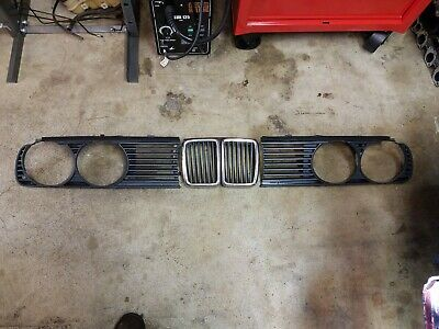 $120 • Buy E30 Front Grill Grille Assembly Kidney Headlight Shrouds