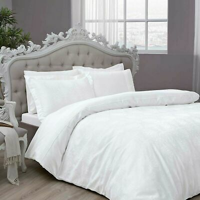 Branded~Quality 900 TC **White Solid** Sheet Set/Duvet/Fitted/Flat SG/DB/SK/EMP • 29£