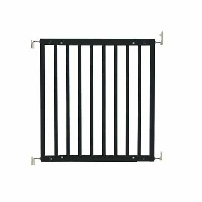 Safetots Chunky Wooden Screw Fit Stair Gate Black 63.5cm-105.5cm • 37.90£