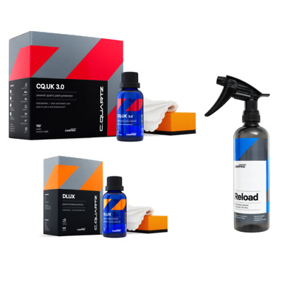 $117.99 • Buy CarPro Cquartz UK 3.0 Ceramic Paint Coating & DLUX Wheel Coating Combo W/ Reload