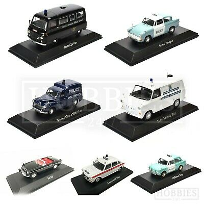 British Police Cars 1/43 Scale Atlas Editions Diecast Models Ford Jaguar Austin • 13.99£