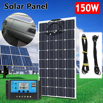 £176.67 • Buy 150W Flexible Solar Panel + Solar Controller + 10M Extension Cable For Car Boat