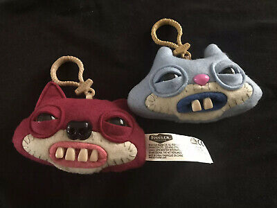 $ CDN14.43 • Buy Fuggler Funny Ugly Monster Keychain - Set Of 2- Rare Backpack Accessory Clip