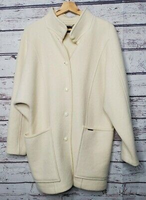 $69.99 • Buy Geiger Wool Coat Womens Size 36 Jacket Ivory