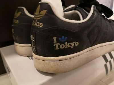 $ CDN40 • Buy Adidas SUPER STAR TOKYO Black Adidas 35th Anniversary Superstar US 9.5