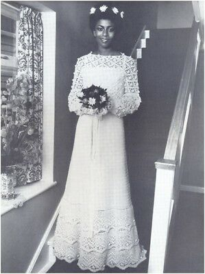 Ladies' 4 Ply Wedding Dress Crochet Pattern 10194 • 3.50£