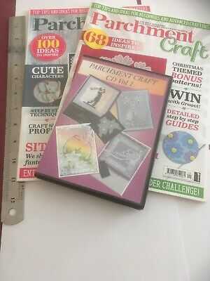 Parchment Craft Magazine And Cd Job Lot • 2£