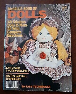 McCalls Soft Cloth Rag Doll Toy Sewing Knitting Pattern Book 40 Projects • 3.70£