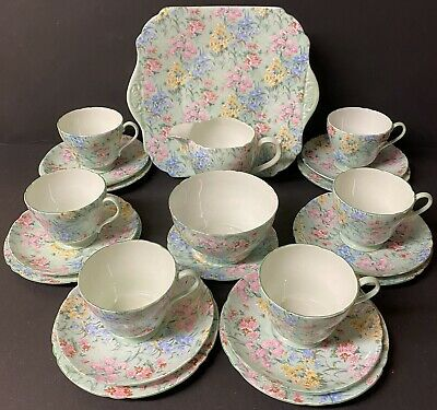 Shelley Melody 22 Piece Tea Set • 150£