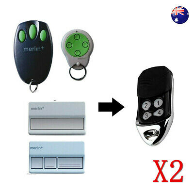 AU16.46 • Buy 2x Garage Door Remote Control Merlin+ C945 C940 M842 M844 Keyring Replacement AU
