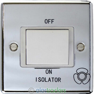 One Electrical CP1518 Fan Isolator Switch 10 Amp Polished Chrome • 6.45£