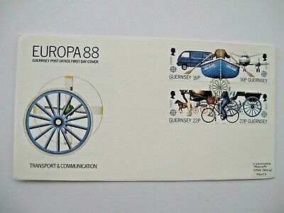 1988 First Day Cover, Guernsey, ' Transport & Communication' • 0.99£