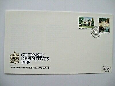 1988 First Day Cover, Guernsey, ' Definitives' • 0.99£