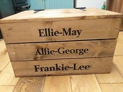 VINTAGE STYLE - Large Wooden Crate Toy Box Storage Display Unit  • 22£