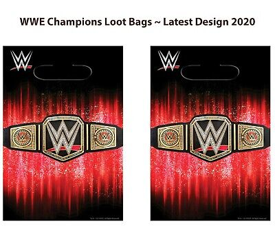 WWE Champions Smash Loot Treat Bags ~ Boys Birthday Party Supplies Favor ~ 16pc. • 7.66£