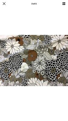 .Luxury Floral Printed Cotton Viscose Dress Fabric 1.5 Metes By 1.5m • 4.60£
