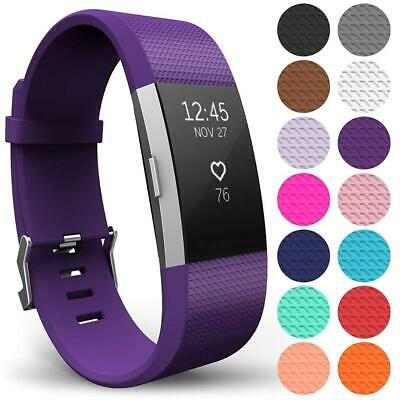 AU7.87 • Buy For Fitbit Charge 2 Bands Replacement Silicone Wristband Watch Strap Sports Band