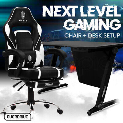 AU369 • Buy 【EXTRA15%OFF】OVERDRIVE Gaming Chair Desk Racing Seat Setup PC Combo Office