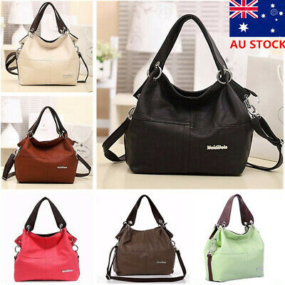 AU17.57 • Buy AU Women Handbag PU Leather Shoulder Bag Satchel Messenger Crossbody Travel Tote