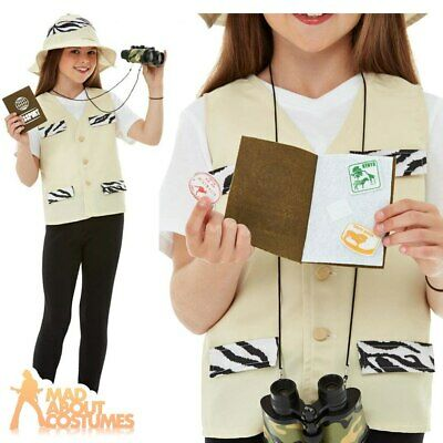 Kids Safari Jungle Explorer Costume Zoo Keeper Book Week Day Fancy Dress Outfit • 12.49£