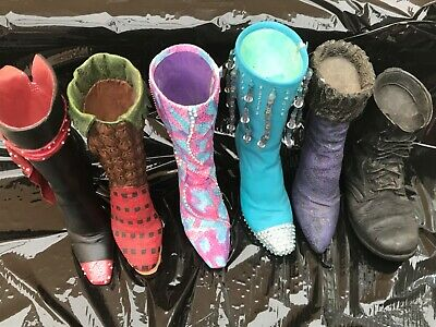 Just The Right Shoe Collection Of 5 Boots Perfect , 1 Chipped Unboxed • 25£