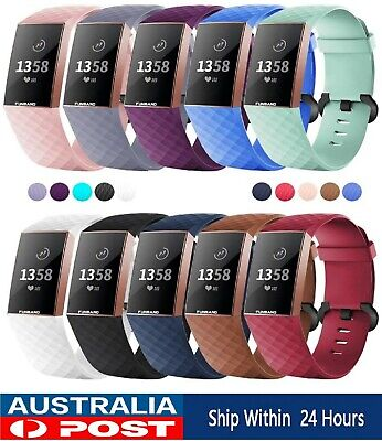 AU8.99 • Buy For Fitbit Charge 3 Classic Silicone Replacement Band Watch Strap Sports Band AU