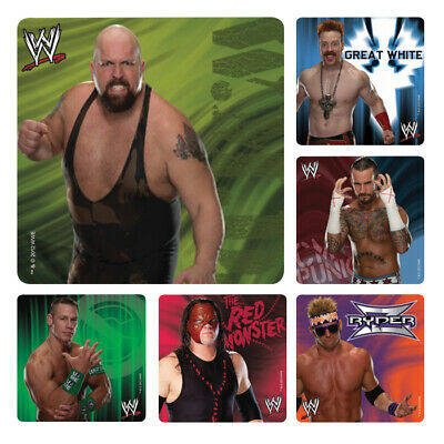 WWE Stickers X 6 - Birthday Party Supplies Favours Loot Wrestling Birthday Party • 1.84£