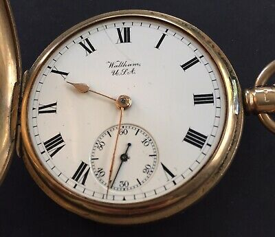 £901.91 • Buy Antiques 9 Ct Solid Gold  Full Hunter  Pocket Watch By Waltham Working Order