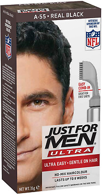 £10.06 • Buy Just For Men Autostop Ultra Easy Hair Colour, Real Black A55