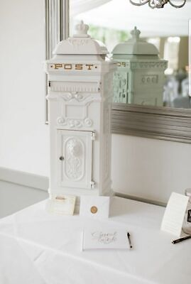 £40 • Buy White Letter Post Box HIRE ONLY  ( NOT FOR SALE )-  009