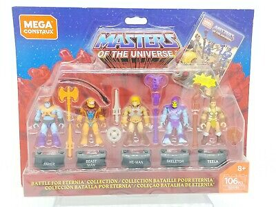 $17.05 • Buy Mega Construx Masters Of The Universe 5 He-Man Skeletor Teela Faker Beast GDV86
