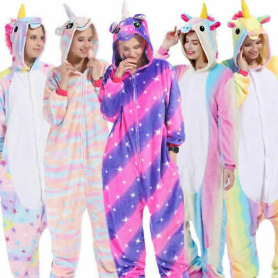 AU23.98 • Buy Unisex Adult Unicorn Tenma Kigurumi Pajamas Cosplay Costume Animal Sleepwear