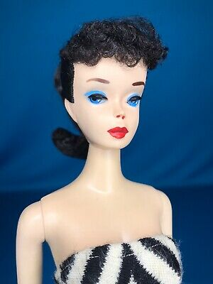 $ CDN270.59 • Buy Vintage Brunette #3 Ponytail Barbie Original SS Blue Eyeshadow W Stand & Booklet