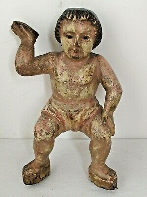 $975 • Buy Antique Santo Nino Carved Wood 18th C. Mexican