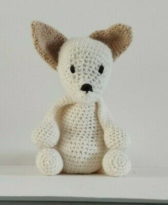 Fred The Fennec Fox  Amigurumi Handmade Soft Crochet Toy  • 11.99£