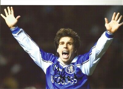 Gianfranco Zola Chelsea 12 X 8 Inch Hand Signed Authentic Football Photo SS074H • 20.99£