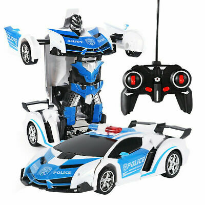 AU31.77 • Buy Toys For Boys Age 3 4 5 6 7 8 9 Year Old Kids Police Car Transformer 2 In1 Robot