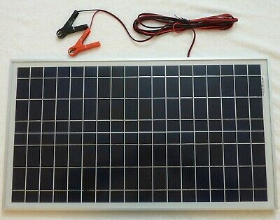 £39.60 • Buy 30w Solar Panel For 20w Price 12v Charger /w 4m Cable BLOCK Diode & Battery Clip