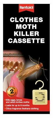 Rentokil Clothes Hanging Moth Killer Cassette Pack Of 2 - Fm92 • 7.99£
