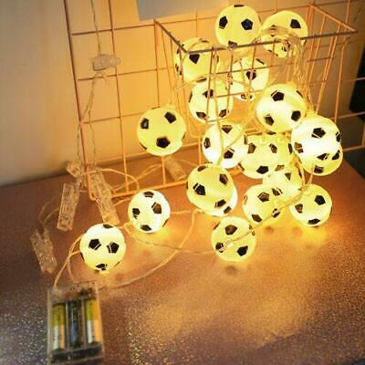 Battery Operated LED Football String Lights Decor Bedroom Lighting Lamps 1.5m • 5.94£