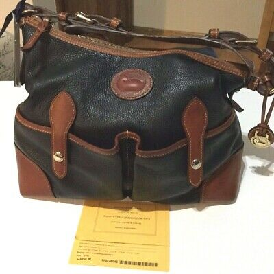 $50 • Buy Dooney & Bourke Commemorative All Weather Leather Lucy Bag, Black,Preowned