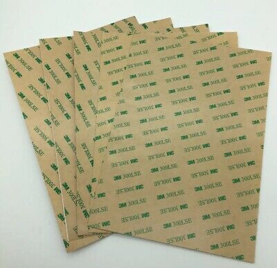 3M 300LSE Double Sided Adhesive Sheet Tape Sheets X5 A3 A4 A5 UK SELLER • 8.50£