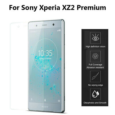 AU6.22 • Buy 2.5D 9H Tempered Glass For Sony Xperia XZ2 Premium Screen Protector Cover Film