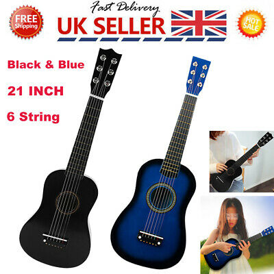 21  Children's Kids Wooden Acoustic Guitar Musical Instrument Child Kid Toy • 12.99£