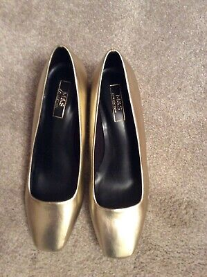 Ladies Metallic Shoes Size 6 By MARKS & SPENCER COLLECTION • 10.99£